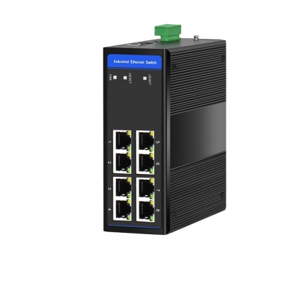 8 x 10/100Base-T Unmanaged, DIN , Unmanaged .Switch