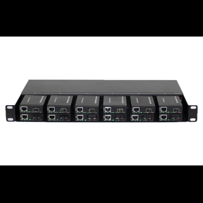 Unmanaged series 12 slots chassis for Mini Media Converter